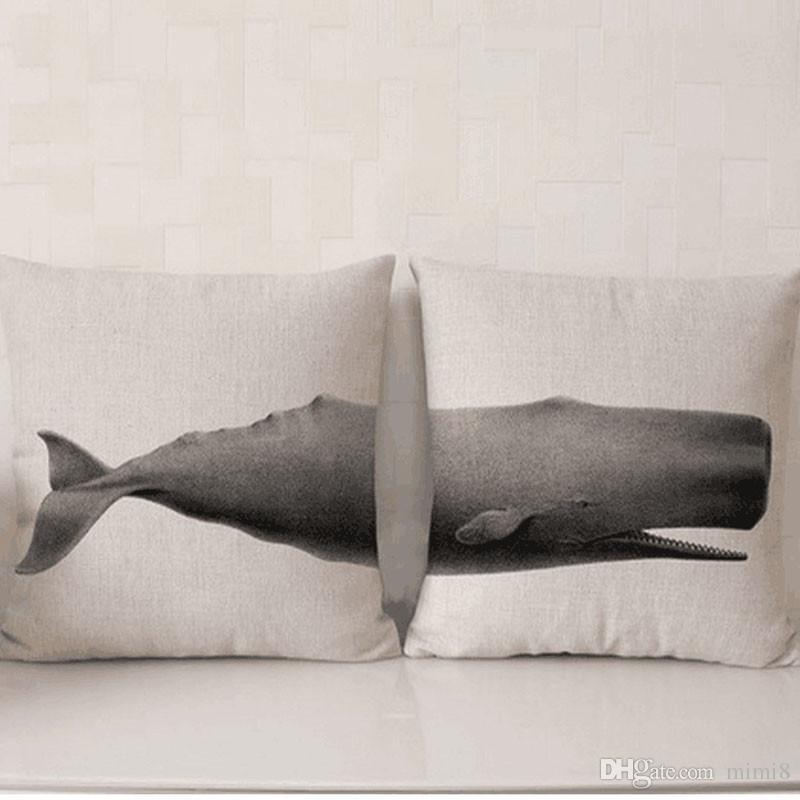 Wild Animal Pillow Case Cotton Linen Chair Seat Waist