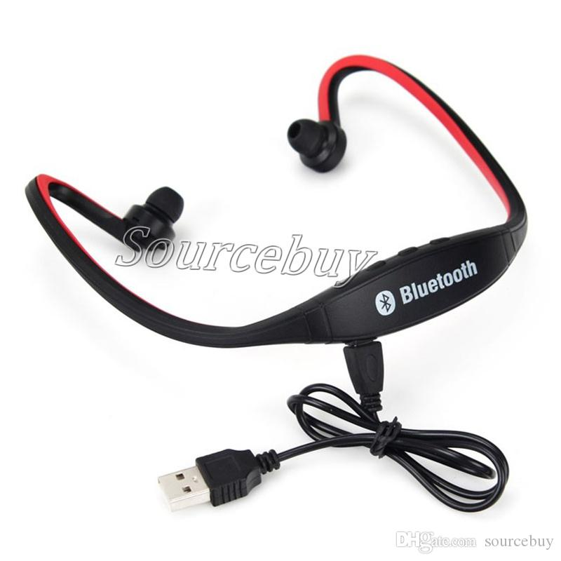 Bluetooth Headphone S9 Wireless Stereo Headset Sports Earphones Speaker Neckband Earphone For iOS Android With Microphone Retail Package