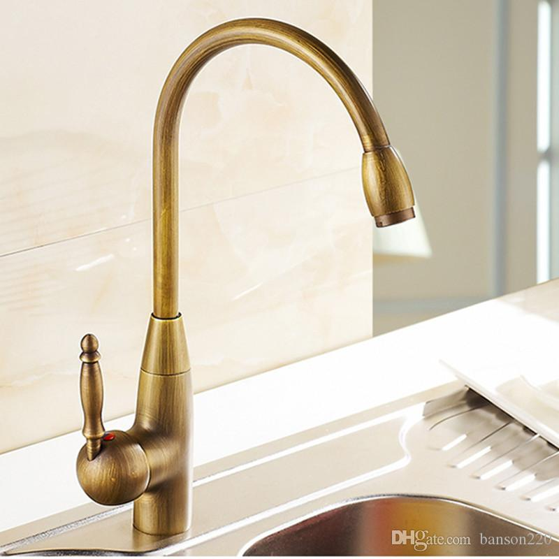 2018 High Quality Antique Kitchen Faucet By Solid Brass Kitchen Sink Faucet  From China Sanitary Ware From Banson220, $103.37 | Dhgate.Com