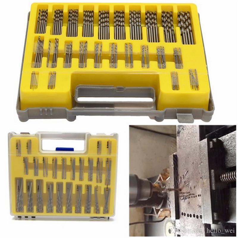 HSS Power Rotary Micro Twist Precision Foret Extracteur Vis Perçage Bits Guide Ensemble Broken Bolt Remover Facile Out Set
