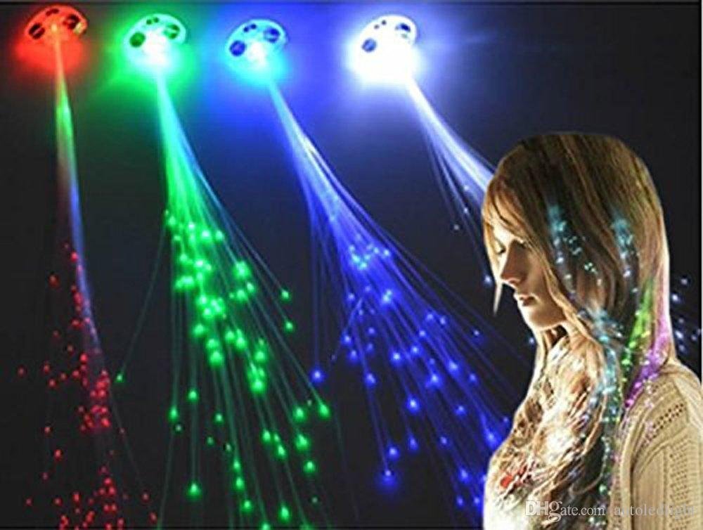 Novelty Lighting Light Up Hair Clips Extensions LED Costume Flashing Women Girls Colorful Braid Clip Hairpin