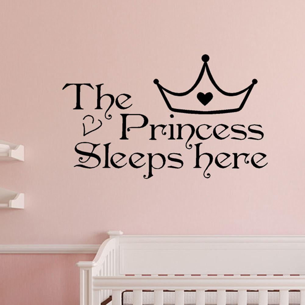 Home wall art princess sleeps here wall decals home decor art see larger image amipublicfo Gallery