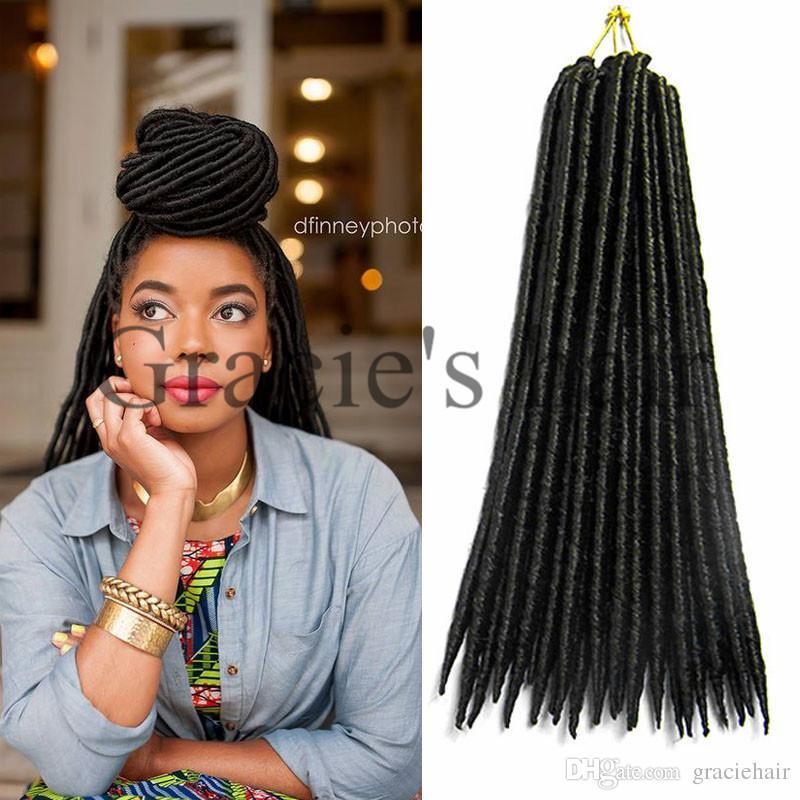 2018 Best Crochet Braid Faux Locs Braid Hair Havana Mambo Twist