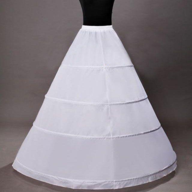 Petticoat 3 Bone Full Flounce Elastic Waist Crinoline Petticoat for Ball Gown Bridal Wedding Gown Party Dress