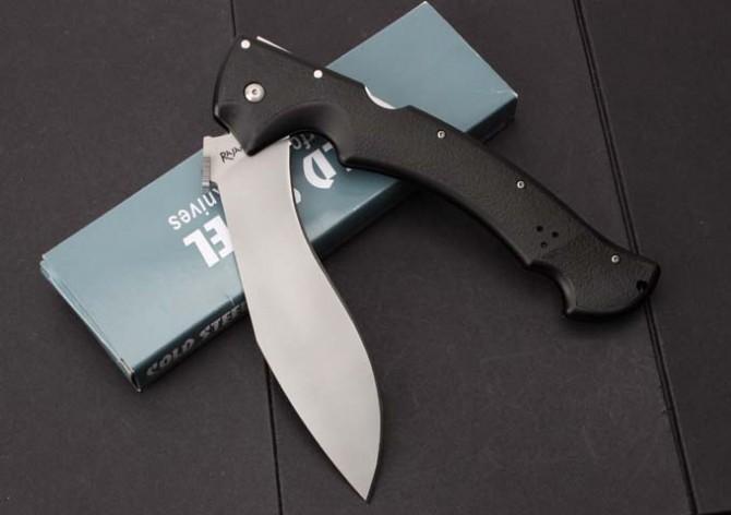 Hot Cold Steel RAJAH II grande faca dobrável D2 lâmina faca bolso G10 lidar com Sobrevivência Tático Facas de acampamento EDC ferramentas Frete grátis de origem