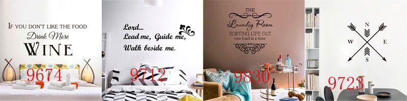 240 stili Nuovo vinile rimovibile lettera citazione Stickers murali Home Decor adesivi murali Mordern arte vivaio soggiorno