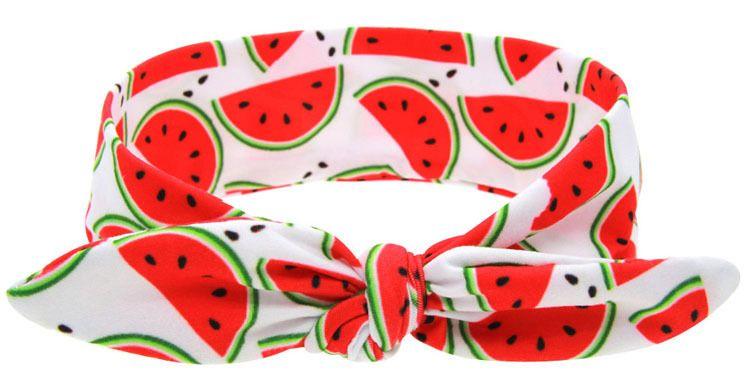 Baby Meisjes Fruit Serie Kinderen Konijnen Oren Hoofdbanden Aardbei Watermeloen Kids Accessoires Baby Haaraccessoires