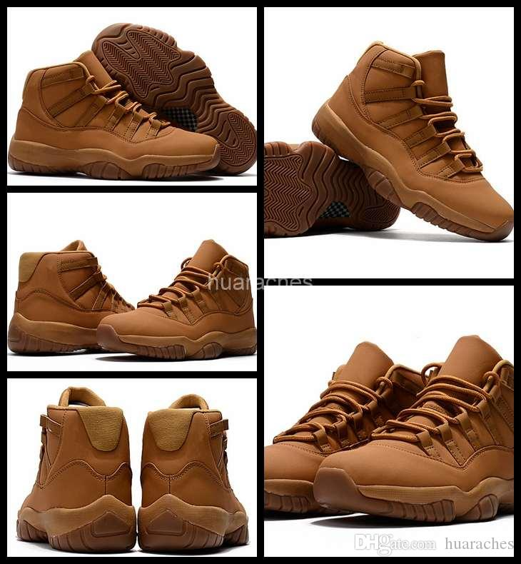 608b1c943d74 2018 New 11 XI Men Basketball Shoes Wheat Yellow High Quality Mens Sneakers  Man 11s Basket Ball Outdoor Trainers Sports Shoes Size 41-47 Men Shoes  Sneakers ...