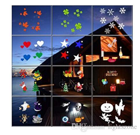 Свет Репроектора Праздника,Хэллоуин Рождество проектор света,поворачивая светильник проекта Сид,света ландшафта движущиеся огни с 12 шт переключение слайдов