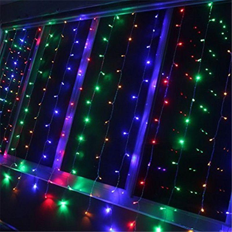 Cheap Led String Curtain Light 300 Led Icicle Wall Lights 110v ...