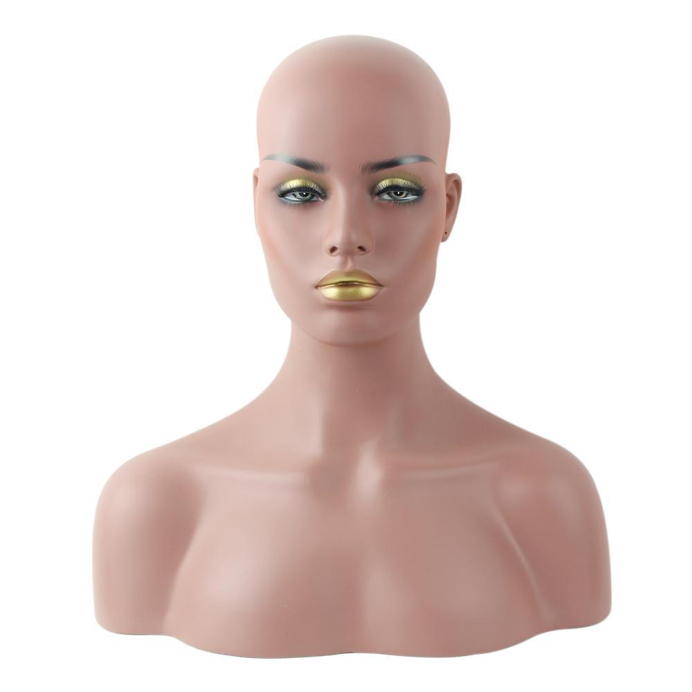 Weibliche realistische Fiberglas-Afro-Amerikaner-Mannequin-Hauptfehlschlag für Spitzeperücken fünf verschiedene Haut und Make-up anzeigen