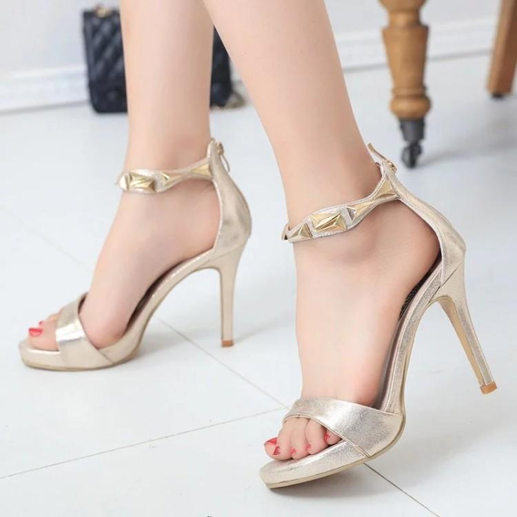 Super High Heels 10cm Women Sandals Fashion Thin Heels La S Platform Sandals Sweet Female Stiletto Sandl 32 Pumps Shoes Shoe Sale From Eric_gs