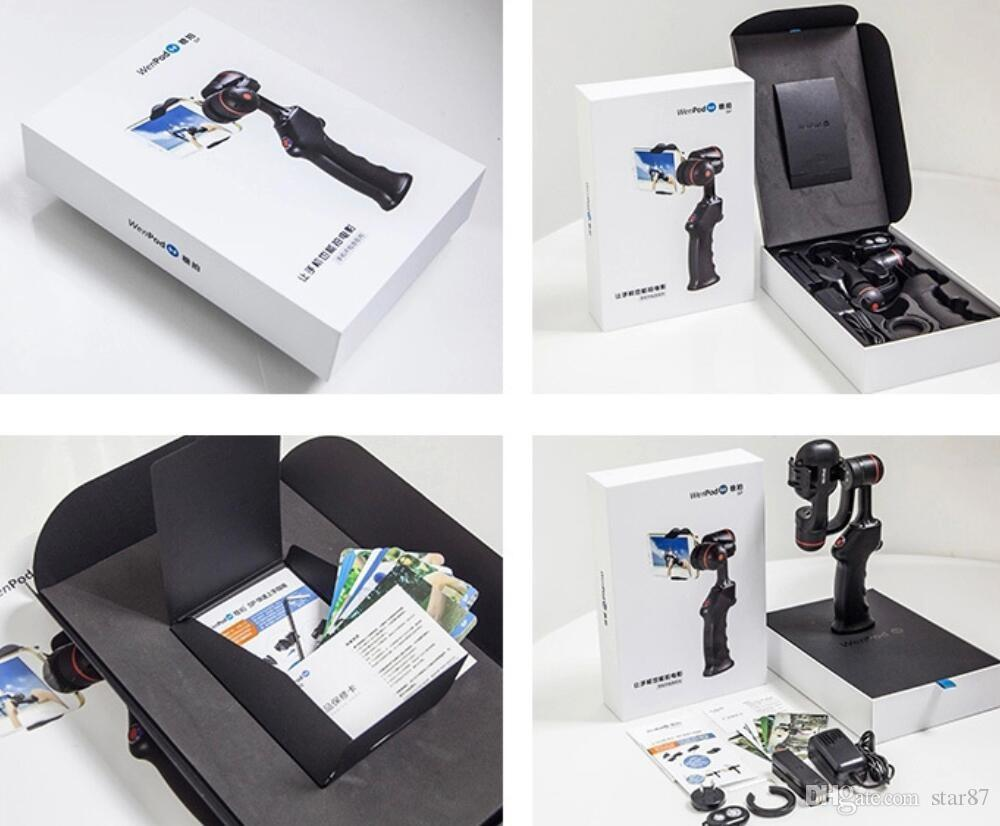 WenPod 360 Degree SP2 2 axis Gimbal stabilizer video handheld mobile phone 2-axis gimbal steadicam for iphone 6 7 plus android Smartphone