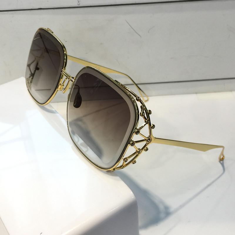 luxury 59 Women Designer sunglasses Fashion Diamond Stone UV Protection Lens Coating Mirror Lens Frameless Color Plated Frame Come With Box
