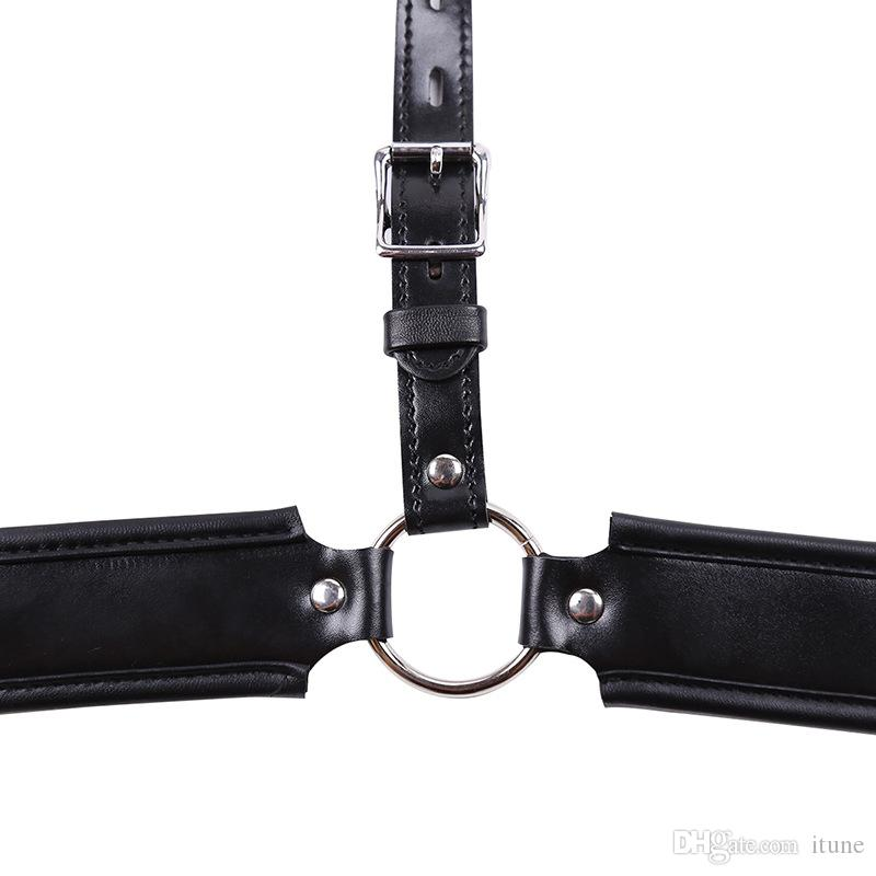 Black Leather chastity belt Panties Panty cockcage cock cages adjustable Pants Shorts briefs