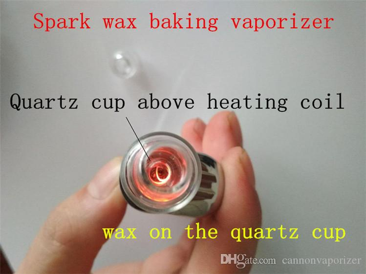 510 vape wax atomizer vaporizer tank glass chamber quartz cup heating element washable replacement heating coil head wax dab tank 2017