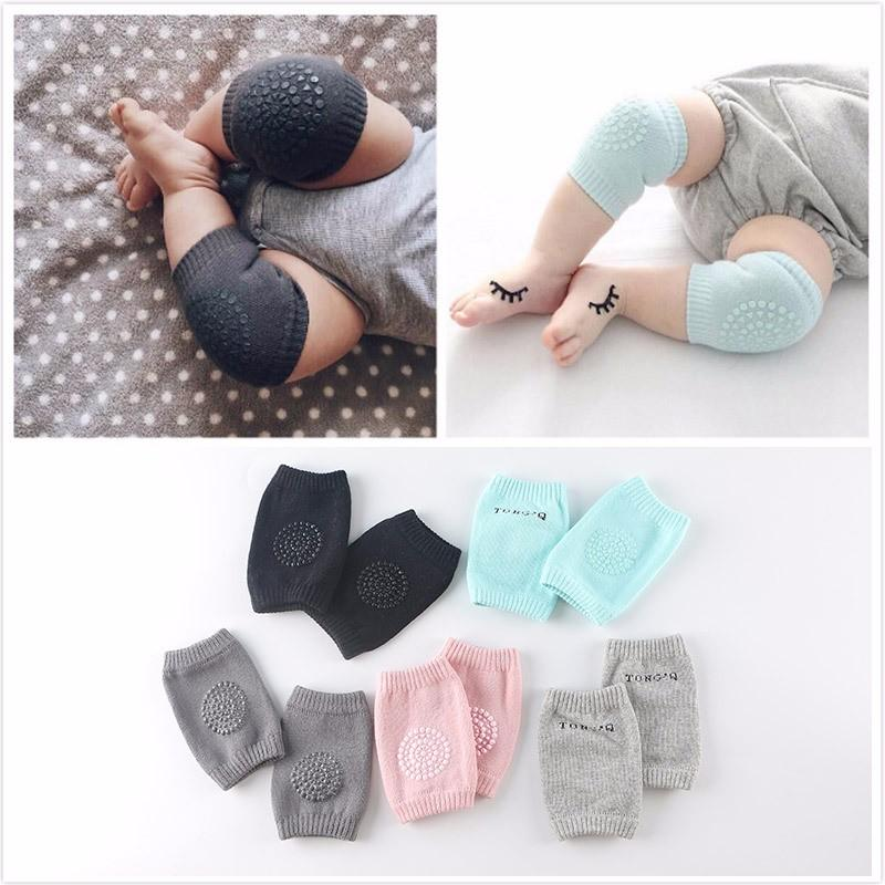 Cotton Baby Knee Pads Protector Kids Crawling Elbow Cushion Anti Slip Crawl Children Short Kneepad Infants Baby Kneecap Socks