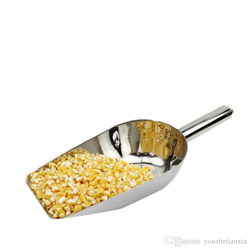 Paslanmaz çelik buz kepçe İşlevli fındık tahıllar ve tahıllar düz kürek mutfak ev el yapımı aracı