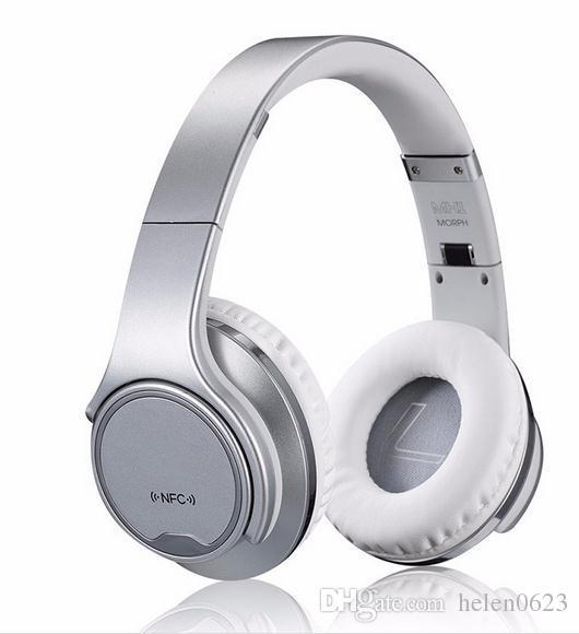Ubit MH1 NFC носимых Bluetooth-динамик твист-в наушники гарнитура 2 в 1 Магия беспроводные колонки с микрофоном FM-радио/AUX / TF карта