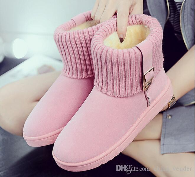 96a79a0be55d9 2017 2018 Women Snow Boots Winter Warm Boots Thick Bottom Platform  Waterproof Ankle Boots For Women Thick Fur Cotton Shoes Moon Boots Red Shoes  From ...