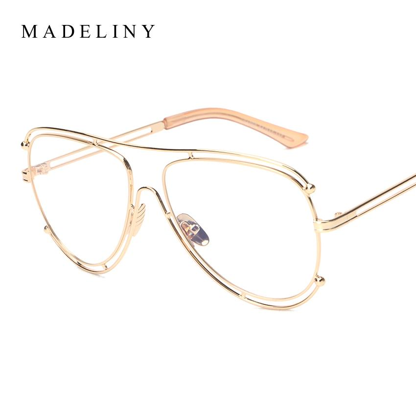 a3c21a1c718 Wholesale- 2017 NEW Eyeglasses Frame Brand Designer Fashion Hollow ...