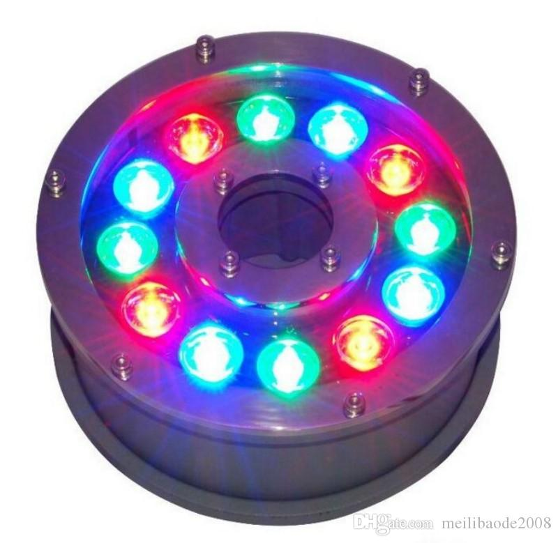 Fontaine sous-marine Lumière LED 6W 9W 12W 15W 18W IP68 Lumière LED piscine lampes RGB LED fontaine lumières 12V 24V 110V 220V MYY