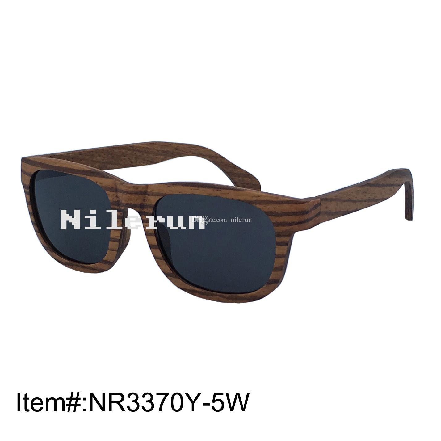 2f7f71e78de Strong Grey Polarized Lenses Zebra Layered Wood Sunglasses Glasses For Men  Mens Eyeglasses From Nilerun