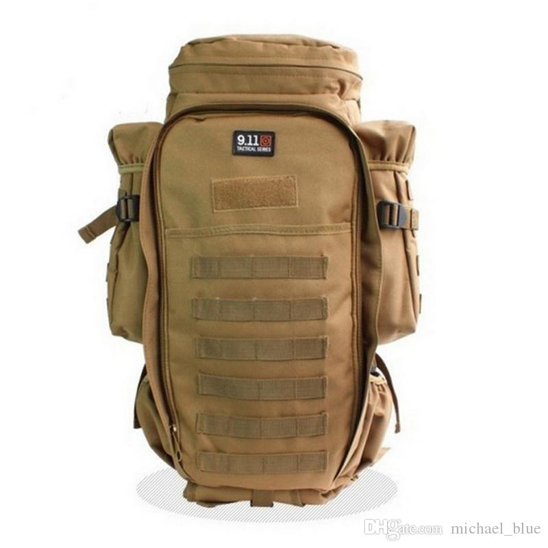 9.11 Full Gear Rifle Mochila 600D Nylon Tático exército grande capacidade Mochila mochila Molle viagem ao ar livre