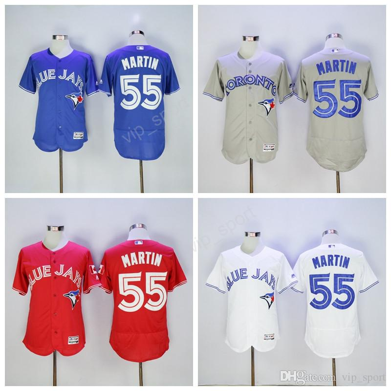 outlet store 1eee6 b1ab7 mens toronto blue jays 55 russell martin blue alternate long ...