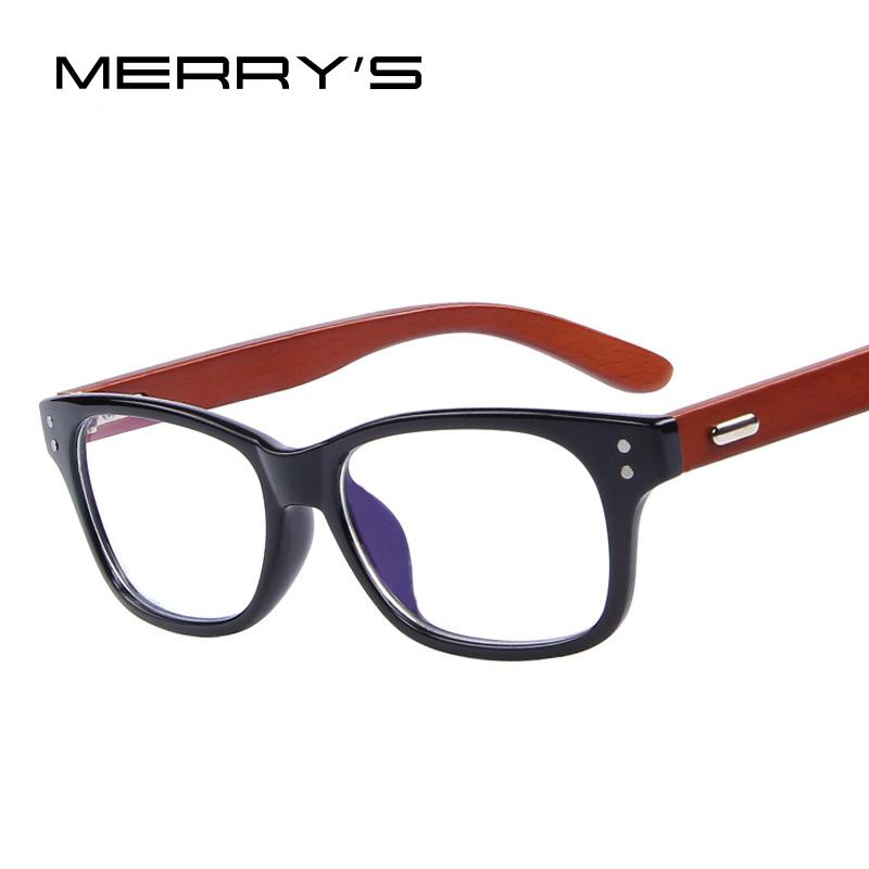 466875d65b Wholesale- MERRY S Wooden Optical Frames Fashion Men Rivet ...