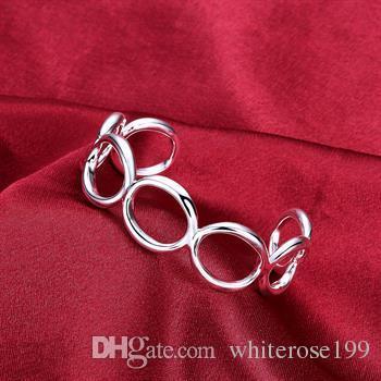 도매 - 소매 최저 가격 크리스마스 선물, 무료 배송, 새로운 925 실버 패션 팔찌 yB013