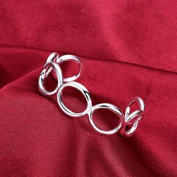 Wholesale  - 小売価格クリスマスプレゼント、送料無料、新しい925シルバーファッションブレスレットYB013