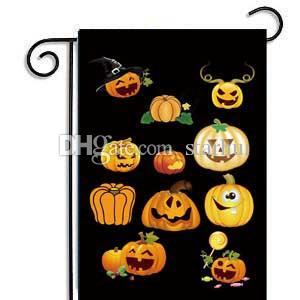 30 * 45 cm Halloween Garten Flaggen Kürbis Ghost Party Home Decor Outdoor Hanging Polyester Garten Flaggen Halloween Dekorationen WX9-03