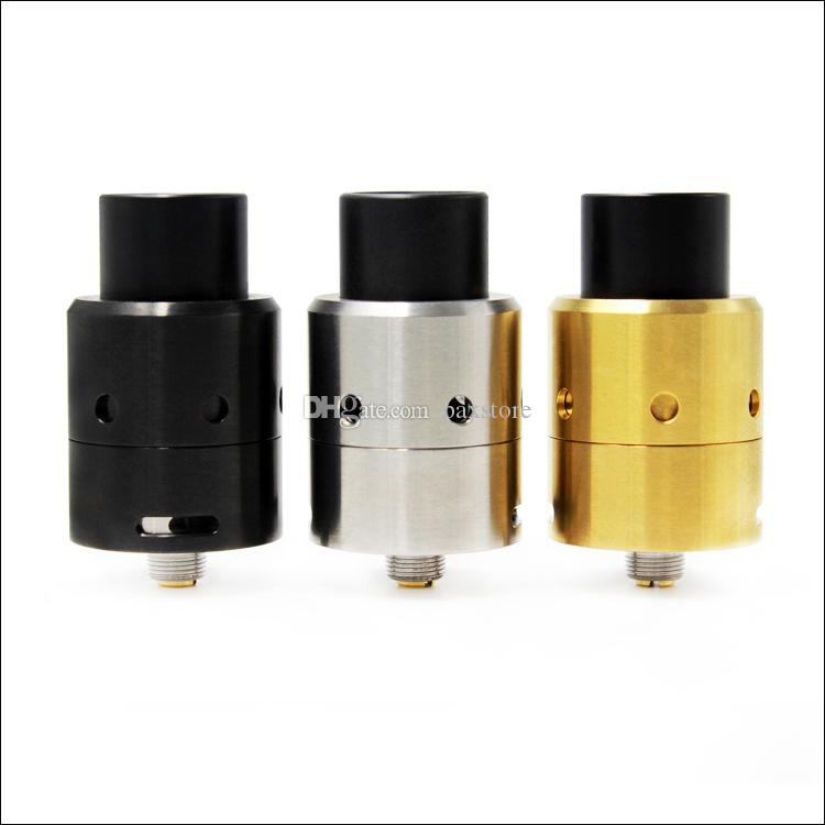 Top Rated Velocity V3 RDA Rebuidable Atomizer 24mm Diameter Adjustable bottom airflow Wide Bore Drip Tip Vape Kit fit 510 Mods DHL Free