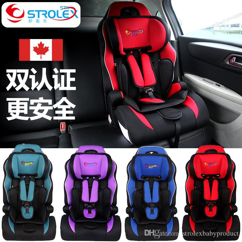 2018 Strolex Baby Child Car Safety Seat ISOfix Interface Five Point Harness Kids Portable Folding Chair Seats From Strolexbabyproduct