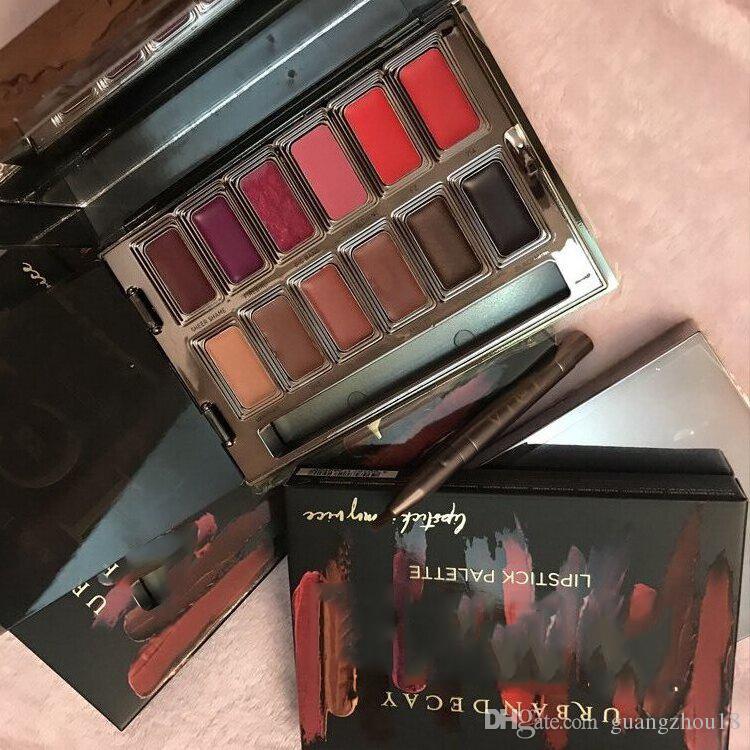 2017 Blackmail Vice Lipstick es Brillo de Labios Palette Cream Lip Makeup Cosméticos de Larga Duración Edición Limitada Lip Gloss Palette