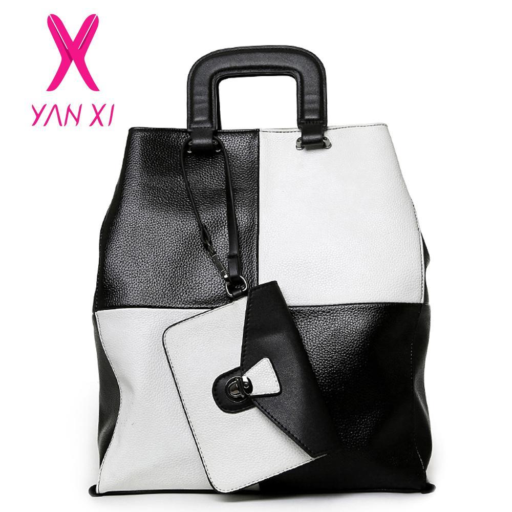 Wholesale-YANXI New 2016 New Hot Women Patchwork Good PU Leather Tote  Fashion Versatile Zipper Handbags US Dollar Designer Shoulder Bags Handbag  Pu Bag ... c86aa63161917