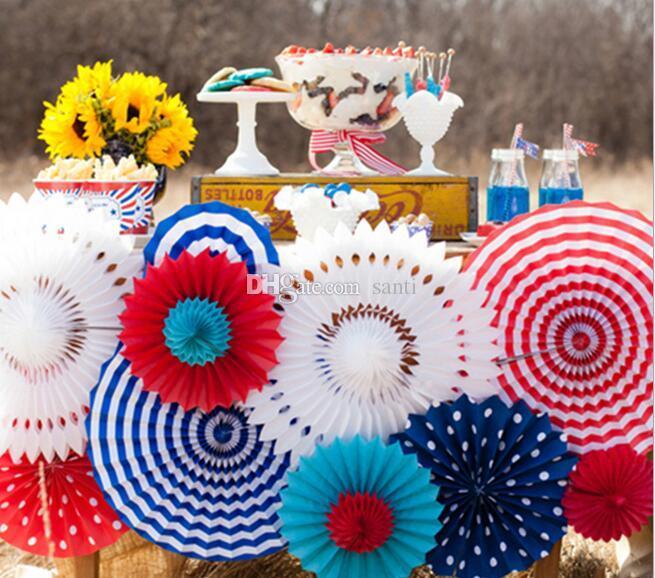 Doku Kağıt cut-out Kağıt Hayranları için Fırıldaklar Asılı Çiçek Kağıt El Sanatları Düğün Parti Doğum Günü Festivali