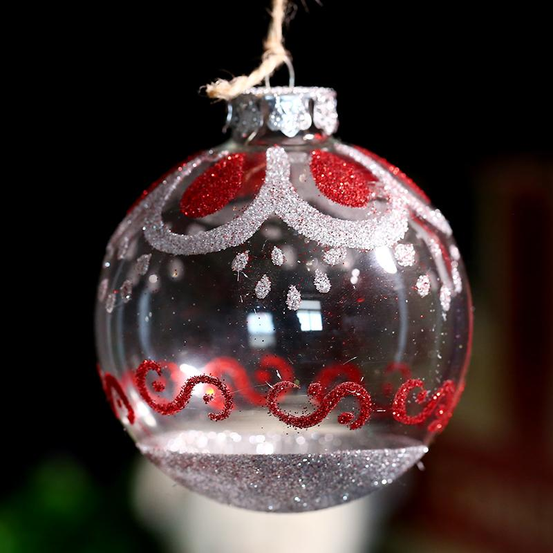80mm Handmade Glass Ornament Ball with colored Wave Xmas Tree Decoration Pendant Party Event wedding x 4 freeshipping Outdoor