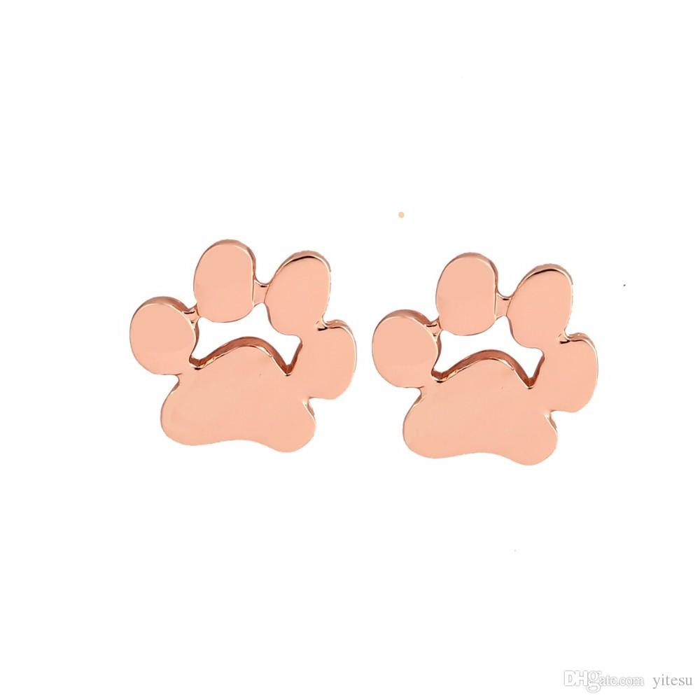 Fashionable 2017 Cute Footprint Paw Earrings for Women Cat and Dog Paw Earrings for Girl present of Valentine's Day