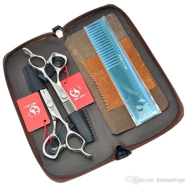 6.0Inch Meisha Professional Hairdressing Scissors Kits Hair Salon Cutting Scissors JP440C Barber Thinning Shears with Bag ,HA0234