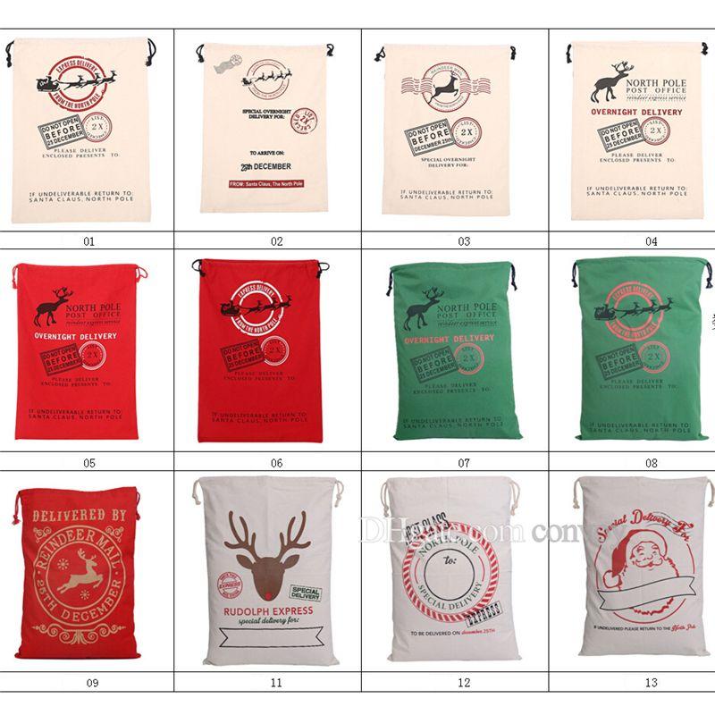Großhandel Neue 12 Arten Weihnachten Große Leinwand Monogrammable ...