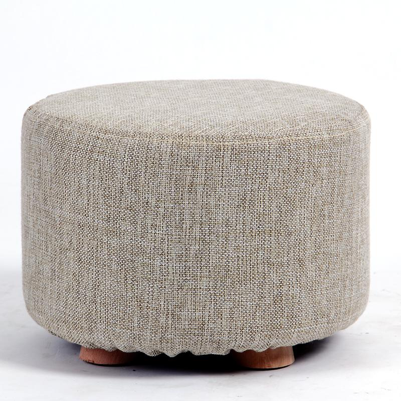 Cotton Shoes Stool Living Room Bench Chair Round Low Stool ...