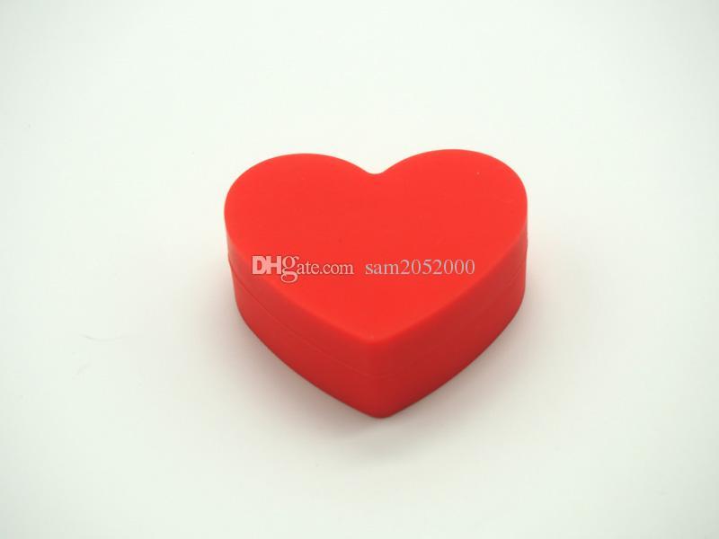 Einzigartiges Design Herz Antihaft Silikon Gläser Tupfen Wachsbehälter Silikon Gläser Tupfen Rasta Silikon Wachsbehälter für Öl