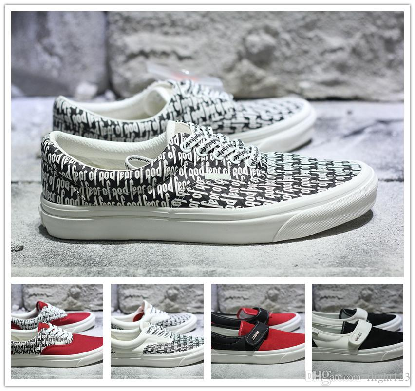 New Casual Shoes Men FEAR OF GOD Women New lovers Canvas shoes 95 Sneakers Size 35-44 Top Quality for nice for sale XbqtOF94e2