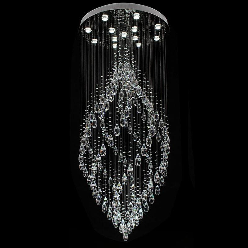 Crystal chandeliers pendant lamp spiral crystal pendant light k9 crystal chandeliers pendant lamp spiral crystal pendant light k9 crystal chandelier led lamp suspension lighting hotel lobby lounge pendant lamp led light aloadofball Image collections