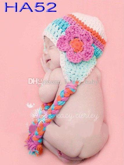 Rainbow Striped Blume Beanie Winter Infant Kleinkind Prinzessin Floral Cap Kinder Weihnachten Hut Foto Requisiten Baby Mädchen Kinder Strickmütze Baumwolle