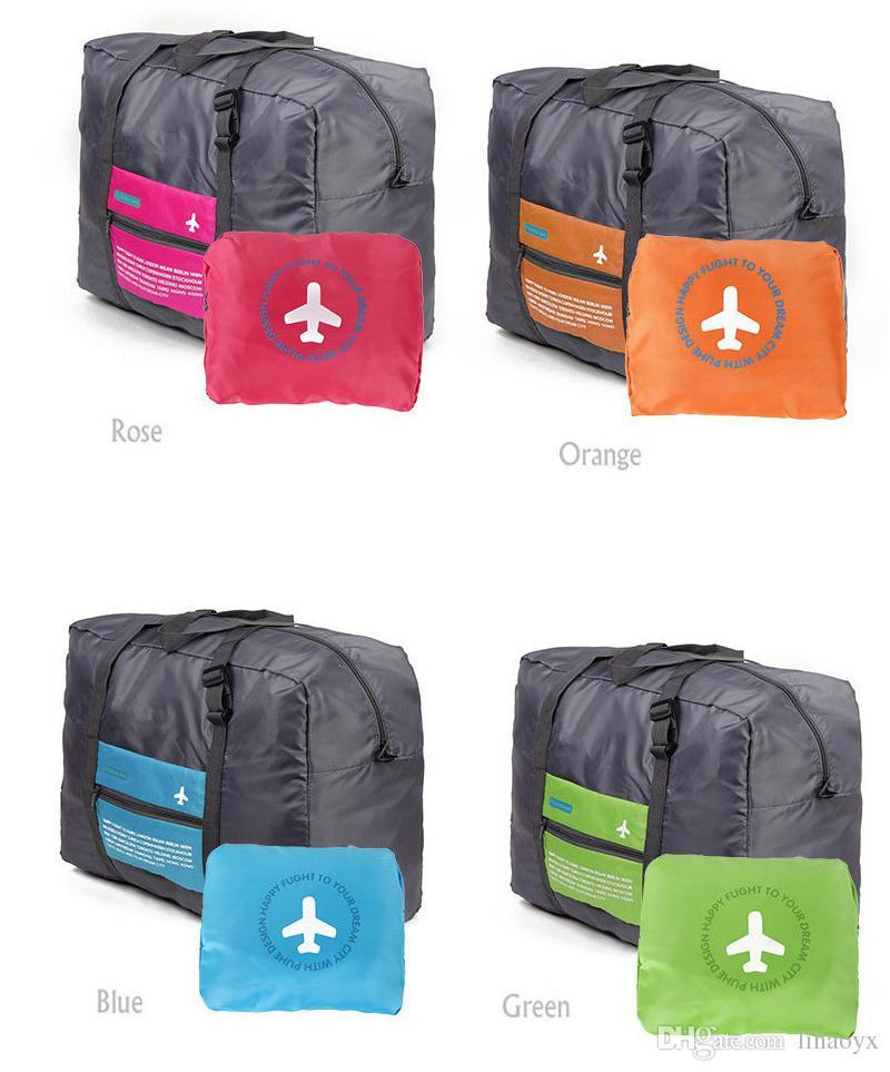 4 Renkler Katlanabilir Naylon Bavul El Bagaj Kabin Küçük Tekerlekli Seyahat Katlanır Uçuş Çantası Büyük Kapasiteli Kılıf Seyahat Eklemek Çanta AK056
