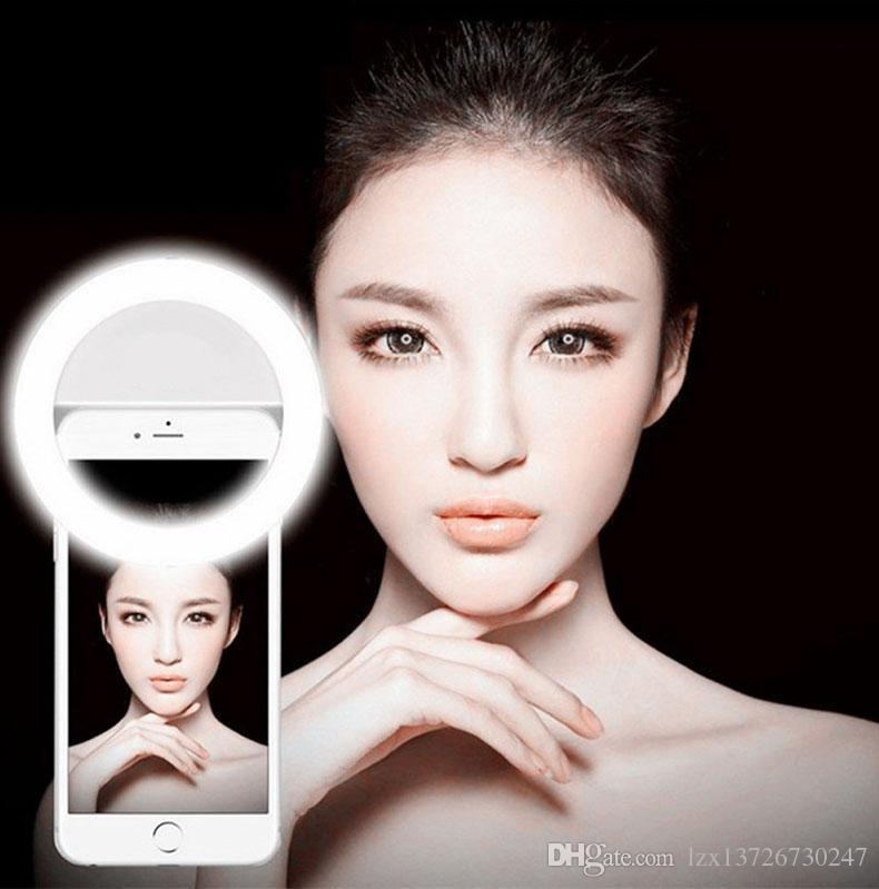 2018 العالمي ترف الهواتف الذكية LED فلاش لايت حتى صورة شخصية مضيئة الهاتف الدائري للحصول على لالروبوت مع شحن USB