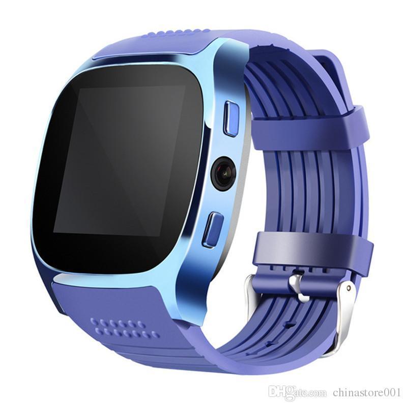 Reloj elegante del reloj de T8 Bluetooth Venta caliente barata Tarjeta de SmartTatch Suppot SIMTF con el mensaje de llamada de la cámara para Android